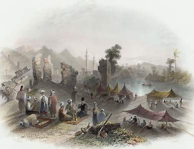 Hadgi or Mecca Pilgrims Encamped Near Antioch, on the Banks of the Orontes