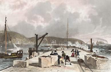 Plymouth Breakwater, from the West