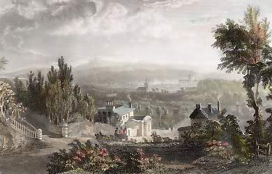 View of Exeter, from the Hill of Pennsylvania