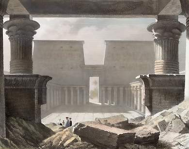 Outer Court of the Temple of Edfu