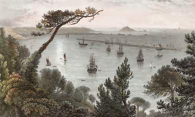 The Breakwater, from Mount Edgcumbe, Plymouth