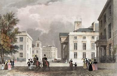 The Royal Hotel, and St. Andrew´s Chapel and Terrace, Plymouth