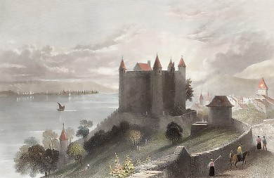 Castle of Granson, Lake of Neufchatel