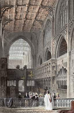 Interior of the Collegiate Church, Manchester