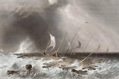 Raft in a Squall, on Lake St Peter