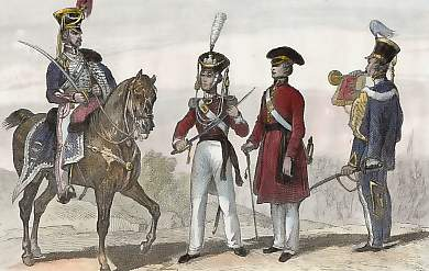 Costumes Militaires Modernes (1838)