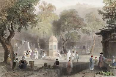 Market Scene and Fountain, Antioch