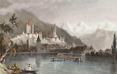 Thun, with the Bernese Alps