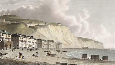 Dover, from the Beach