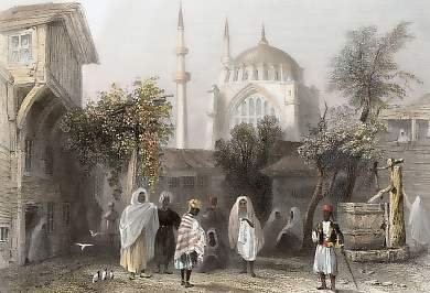 The Mosque of Osmanié, from the Slave Market