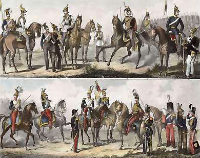 Prussian Cavalry, French Cavalry