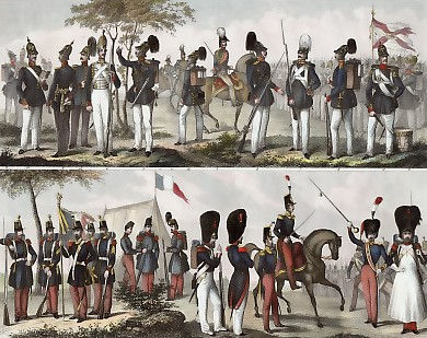 Prussian Infantry, French Infantry