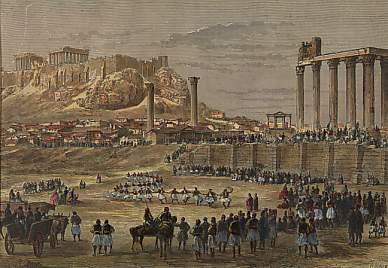 Carnival Near the Temple of Jupiter, Athens