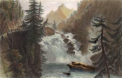 Fall of the Rhine, in the Roffla (Grisons)